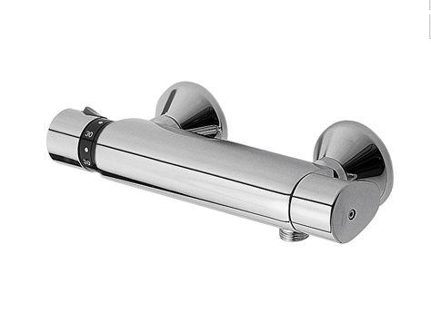 TRES TRESMOSTATIC STAR, Nástěnná termostatická sprchová baterie,chrom (190162)