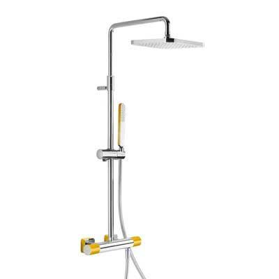 TRES - Souprava termostatické sprchové baterie · Pevná sprcha 220x220 mm. s kloubem. (299.632.06) (20019501AM)