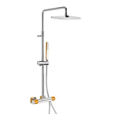 TRES - Souprava termostatické sprchové baterie · Pevná sprcha 220x220 mm. s kloubem. (299.632.06) (20019501NA)