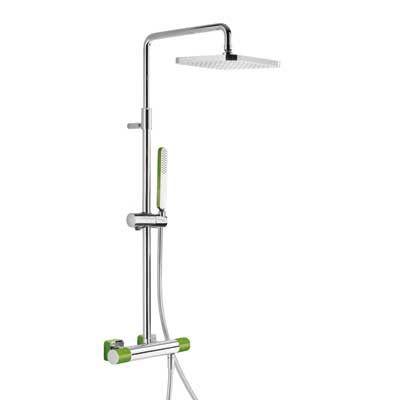 TRES - Souprava termostatické sprchové baterie · Pevná sprcha 220x220 mm. s kloubem. (299.632.06) (20019501VE)