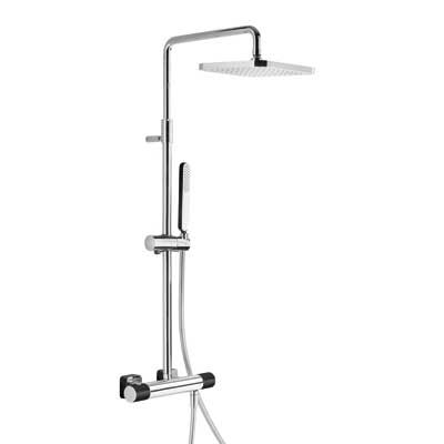 TRES - Souprava termostatické sprchové baterie · Pevná sprcha 220x220 mm. s kloubem. (299.632.06) (20019501NE)