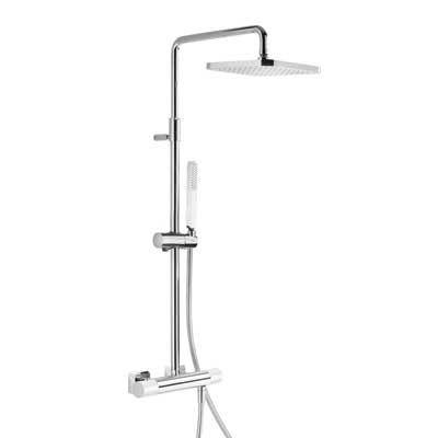 TRES - Souprava termostatické sprchové baterie · Pevná sprcha 220x220 mm. s kloubem. (299.632.06) (20019501BL)