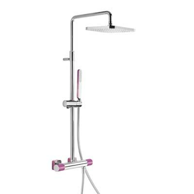 TRES - LOFT COLORS Souprava termostatické sprchové baterie · Pevná sprcha 220x2 ( 20019501VI )