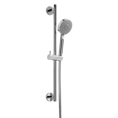 TRES - Sprchová sada MINIMAL O 19 mm, délka 550 mm Flexi hadice SATIN (134628)