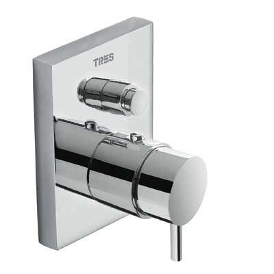 TRES - Termostatická baterie pro vanu-sprchu podomítková s uzávěrem a regulací průtoku · Včetně p (190652)