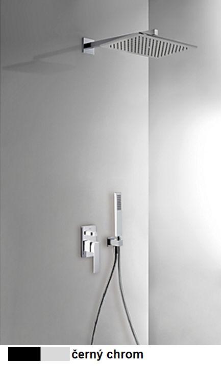 TRES - Podomítkový jednopákový sprchový set s uzávěrem a regulací průtoku. · Včetně podomítkového (20218006NE)