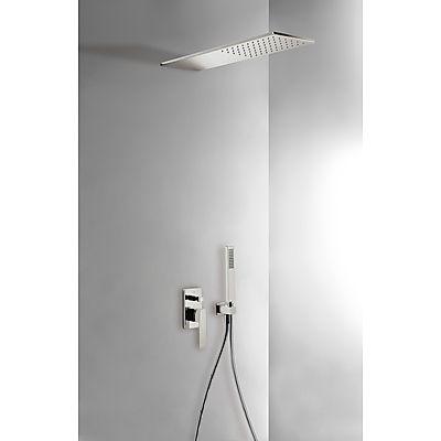 TRES - Podomítkový jednopákový sprchový set s uzávěrem a regulací průtoku. · Včetně podomítkového (20218003AC)