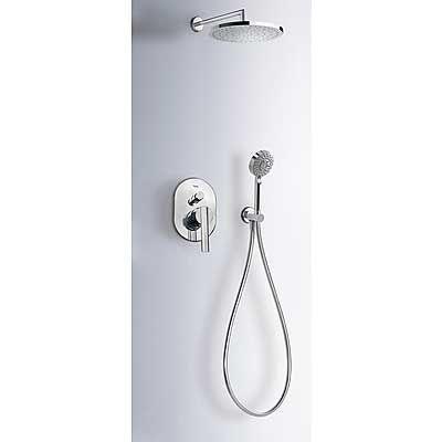 TRES LEX-TRES Podomítkový sprchový set, s hlavovou sprchou 25 cm a ruční sprchou, chrom (18188005)