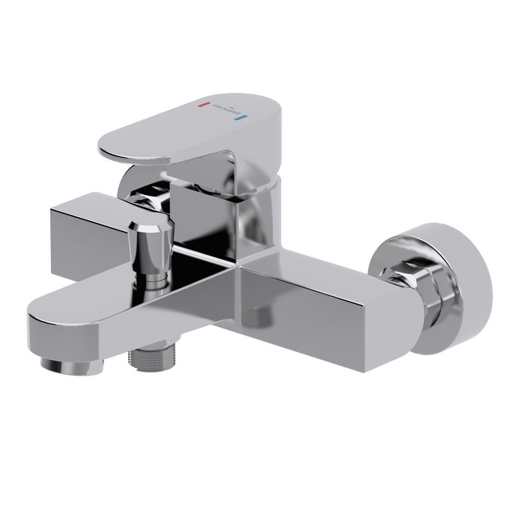 CERSANIT - Vanová baterie se sprchou VIGO jednopáková, dvouotvorová, nástěnná, s pevným výtokovým ramínkem, s přepínačem, CHROM (S951-010 )