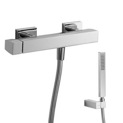 TRES - Jednopáková sprchová baterie Ruční sprcha (202.639.01) s nastavitelným držákem, proti usaz (20216701)