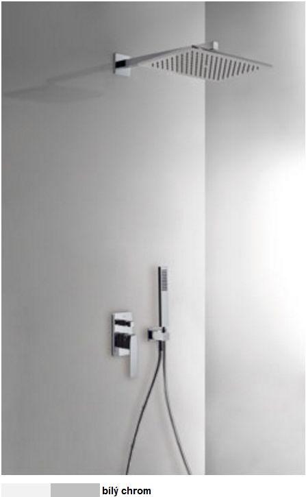 TRES - Podomítkový jednopákový sprchový set s uzávěrem a regulací průtoku. · Včetně podomítkového (20218006BL)