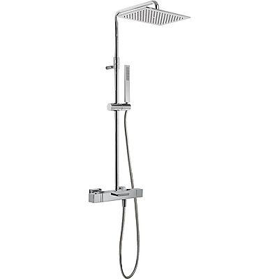 TRES - Souprava termostatické baterie pro vanu-sprchu · Pevná sprcha 320x220 mm. s kloubem. Mater (20231201)