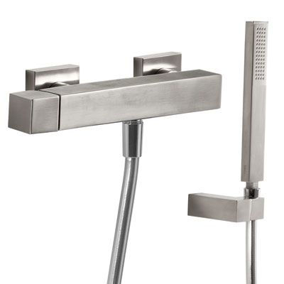 TRES - Jednopáková sprchová baterie Ruční sprcha s nastavitelným držákem, proti usaz. vod. kamene (50716703)
