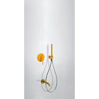 TRES - STUDY COLORS Podomítkový jednopákový sprchový set s uzávěrem a regulací p ( 26218003TAM )