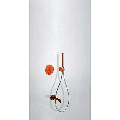 TRES - Podomítkový jednopákový sprchový set s uzávěrem a regulací průtoku. · Včetně podomítkového (26218003TNA)