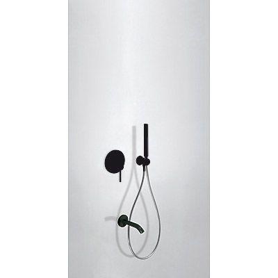 TRES - Podomítkový jednopákový sprchový set s uzávěrem a regulací průtoku. · Včetně podomítkového (26218003TNE)