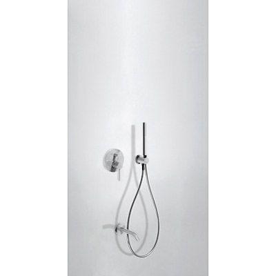 TRES - Podomítkový jednopákový sprchový set s uzávěrem a regulací průtoku. · Včetně podomítkového (26218003TBL)