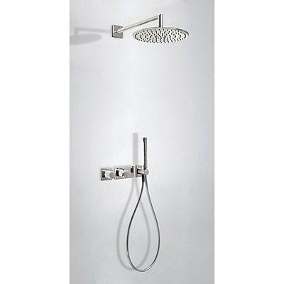 TRES - Podomítkový termostatický sprchový set BLOCK SYSTEM s uzávěrem a regulací průtoku (2-cestn (20735201AC)