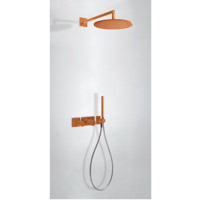 TRES - Podomítkový termostatický sprchový set BLOCK SYSTEM s uzávěrem a regulací průtoku (2-cestn (20735201TNA)