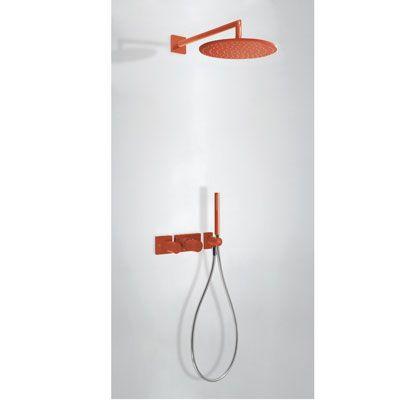 TRES - Podomítkový termostatický sprchový set BLOCK SYSTEM s uzávěrem a regulací průtoku (2-cestn (20735201TRO)