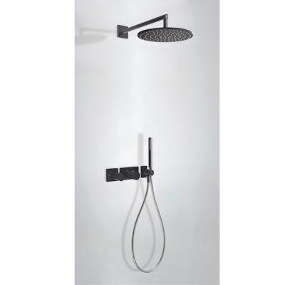 TRES - Podomítkový termostatický sprchový set BLOCK SYSTEM s uzávěrem a regulací průtoku (2-cestn (20735201TNE)