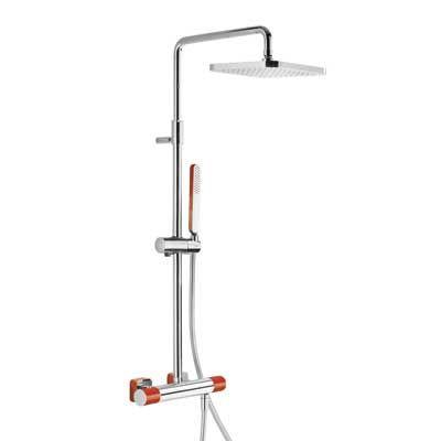 TRES - Souprava termostatické sprchové baterie · Pevná sprcha 220x220 mm. s kloubem. (299.632.06) (20019501RO)