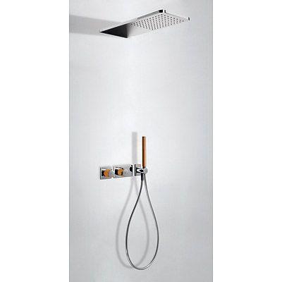 TRES - LOFT COLORS Podomítkový termostatický sprchový set s uzávěrem a regulací průtoku ( 20735202NA )