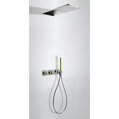 TRES - Podomítkový termostatický sprchový set BLOCK SYSTEM s uzávěrem a regulací průtoku (2-cestn (20735202VE)