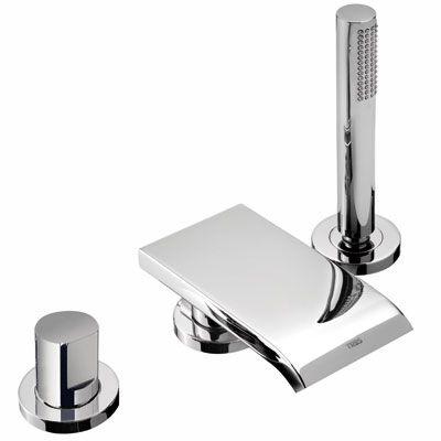 TRES - Jednopáková stojánková vanová baterie MAX s ramínkem kaskádou. Sprcha, proti usaz. vod. ka (06116101)
