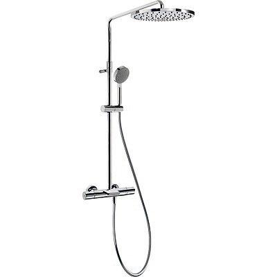 TRES - Souprava termostatické baterie pro vanu-sprchu MAX · Pevná sprcha O 300 mm. s kloubem. Mat (06231201)