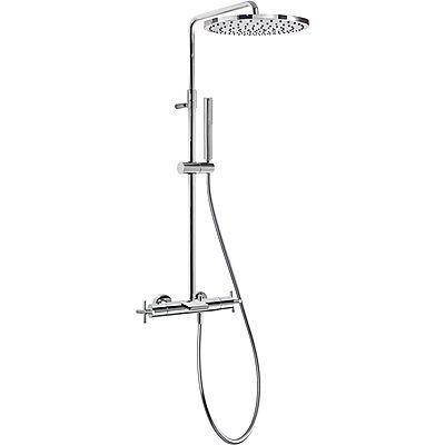 TRES - Souprava termostatické baterie pro vanu-sprchu BIMAX · Pevná sprcha O 300 mm. s kloubem. M (06331201)