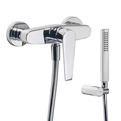 TRES - Jednopáková sprchová baterie Ruční sprcha (299.631.08) s nastavitelným držákem, proti usaz (20516701)