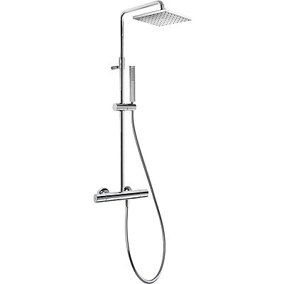 TRES - Souprava termostatické sprchové baterie CLASS · Pevná sprcha 250x250 mm. s kloubem. (1.34. (20538501)