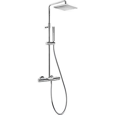 TRES - Souprava termostatické baterie pro vanu-sprchu CLASS · Pevná sprcha 250x250 mm. s kloubem. (20531201)