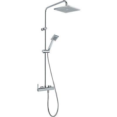 TRES - Sprchová souprava, proti usaz. vod. kamene LEX · Pevná sprcha 200x200 mm. s kloubem. (299. (08119301)