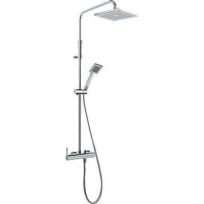 TRES - Sprchová souprava, proti usaz. vod. kamene LEX · Pevná sprcha 200x200 mm. s kloubem. (299. (08119701)