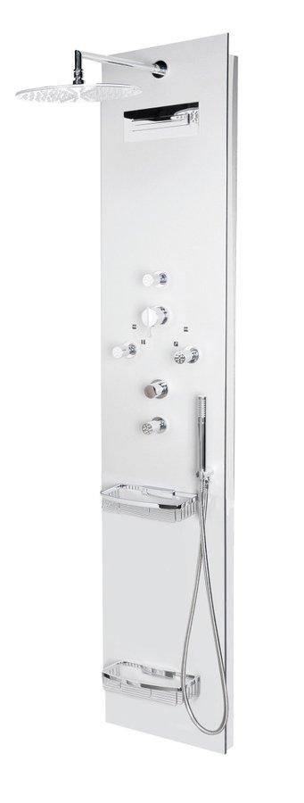 POLYSAN - FLAT OVAL sprchový panel 400x2000mm, Aluminium (80620-1300)