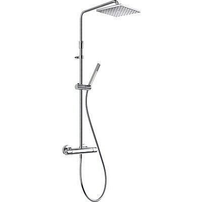 TRES - Souprava termostatické sprchové baterie LEX · Pevná sprcha 250x250 mm. s kloubem. (1.34.13 (190213)