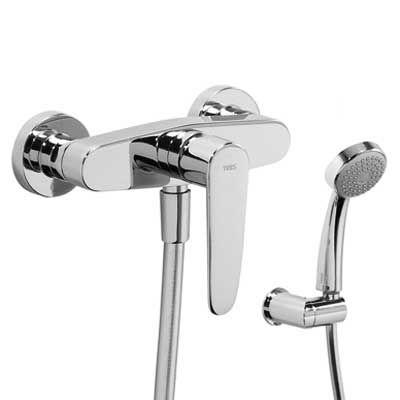 FLAT-TRES Jednopáková sprchová baterie, ruční sprcha, držák, hadice ( 20416701 )