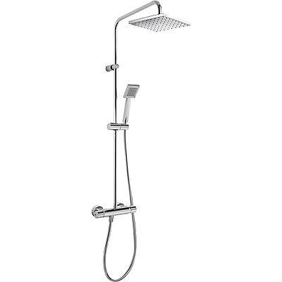 TRES - Souprava termostatické sprchové baterie FLAT · Pevná sprcha 200x200 mm. s kloubem. · Ruční (20438702)