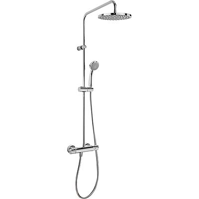 TRES - Souprava termostatické sprchové baterie FLAT · Pevná sprcha O 200 mm. s kloubem. · Ruční s (20438701)