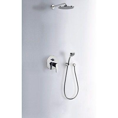 TRES - Sprchová sada vestavná · Pevná sprcha O 200 mm. s kloubem (299.632.12). · Kolínko nástěnn (07088002)