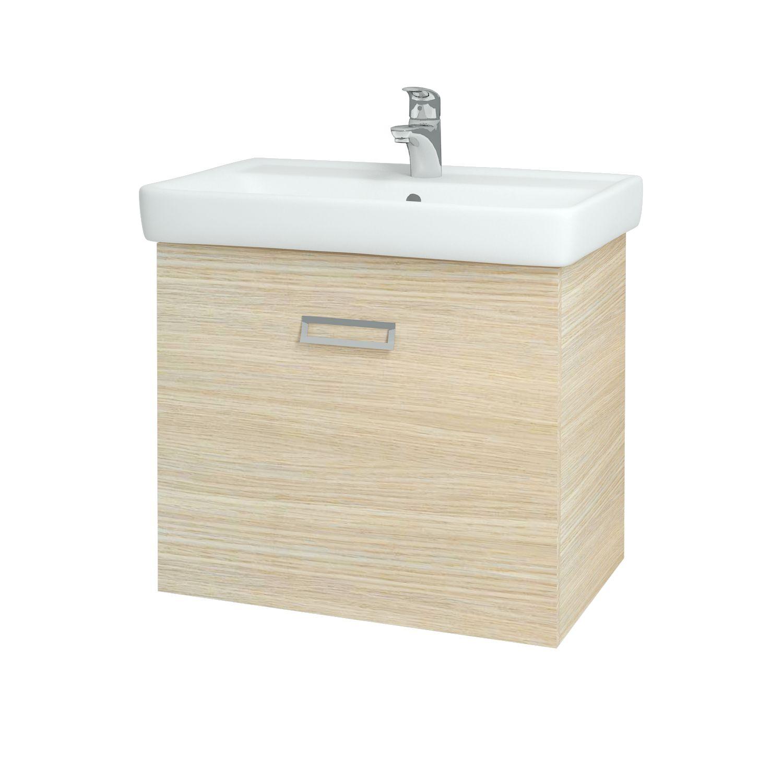 Dřevojas - Koupelnová skříňka Q MONO 700 FC - D04 Dub (61008)