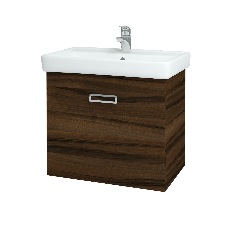 Dřevojas - Koupelnová skříňka Q MONO 700 FC - D06 Ořech (61015)