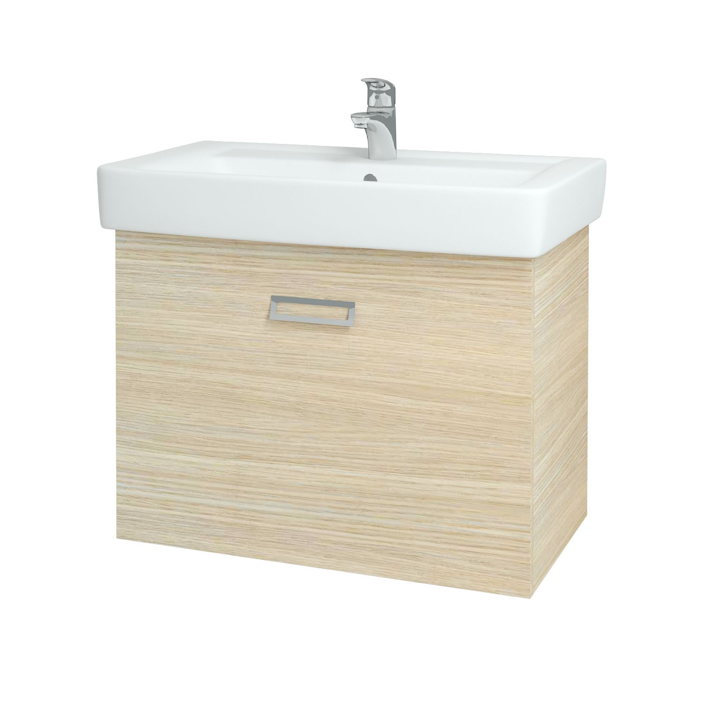 Dřevojas - Koupelnová skříňka Q MONO 800 FC - D04 Dub (61060)