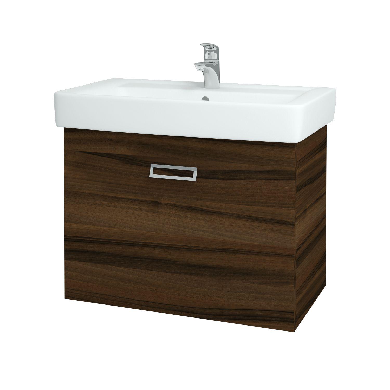 Dřevojas - Koupelnová skříňka Q MONO 800 FC - D06 Ořech (61077)