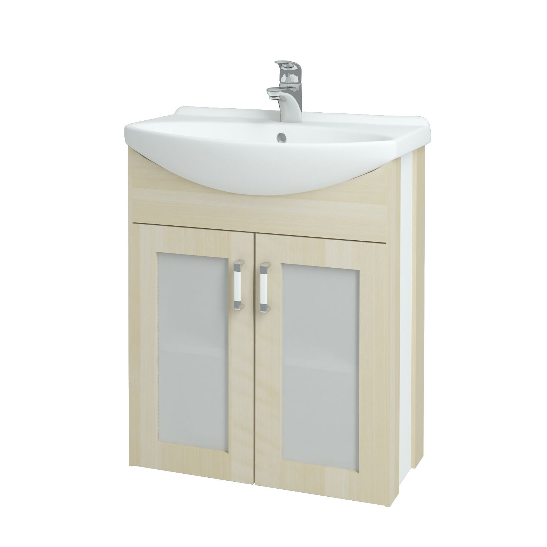 Dřevojas - Koupelnová skříňka DREJA PLUS 65 - D02 Bříza (90053)