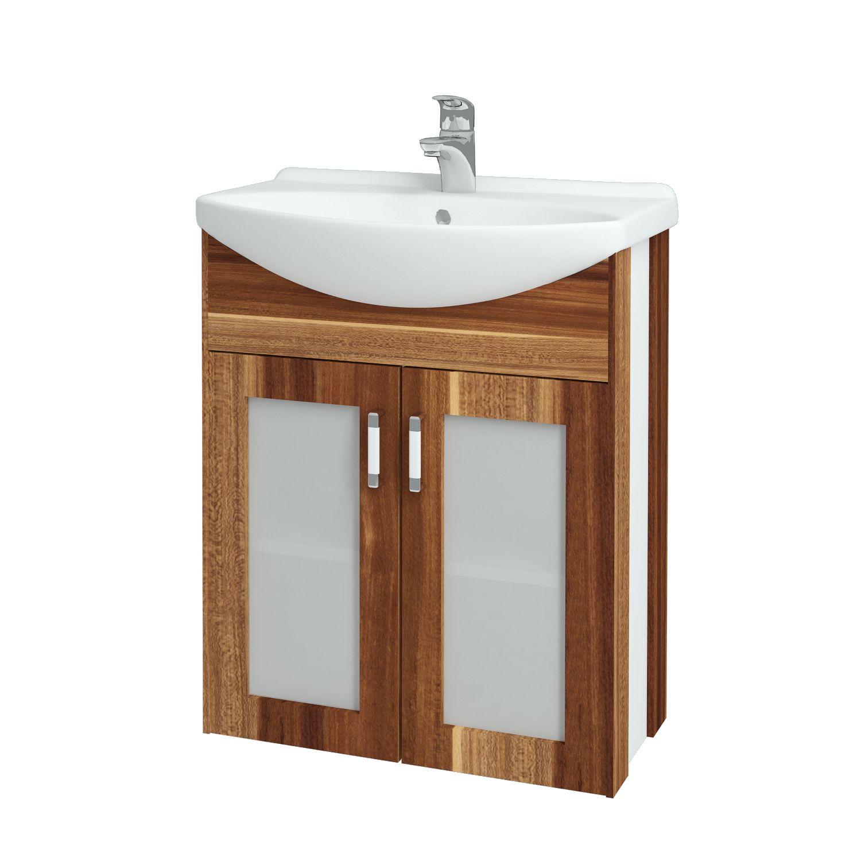 Dřevojas - Koupelnová skříňka DREJA PLUS 65 - F01 Švestka (90008)