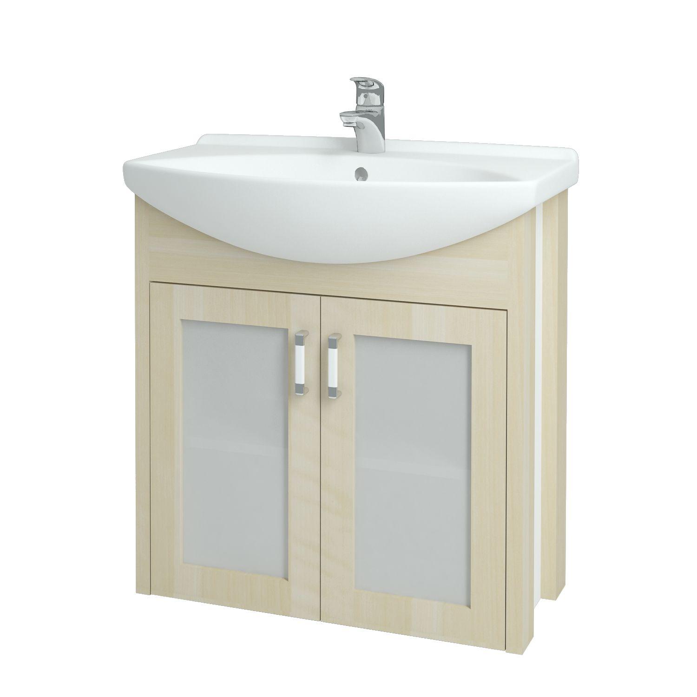 Dřevojas - Koupelnová skříňka DREJA PLUS 75 - D02 Bříza (90152)