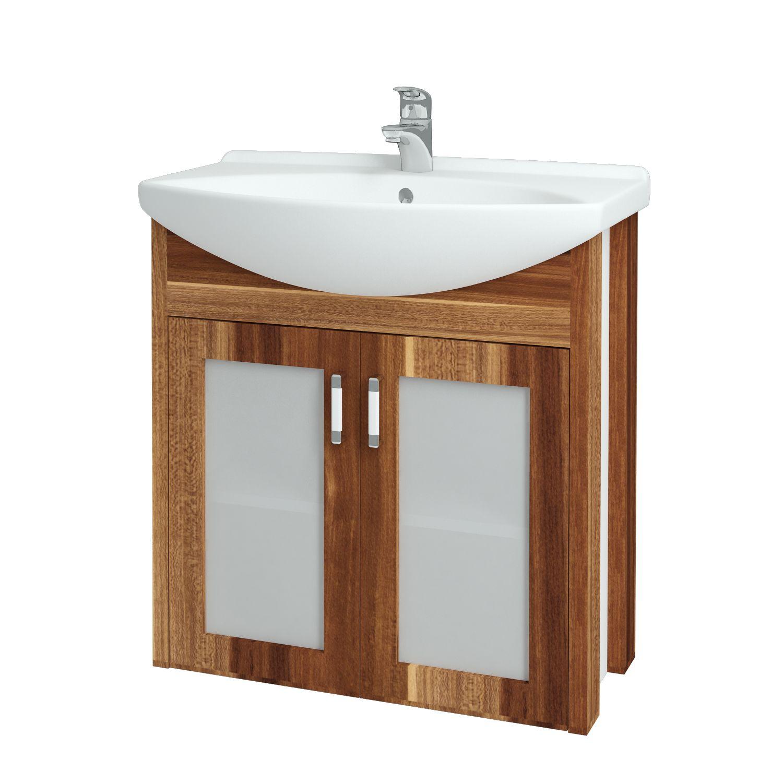Dřevojas - Koupelnová skříňka DREJA PLUS 75 - F01 Švestka (90107)